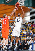 Florida International University center Brandon Moore (22) plays against Bowling Green State University, which won the game 61-53 on December 22, 2011 at Miami, Florida. .