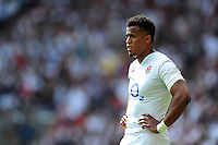 Anthony Watson of England looks on during a break in play. Old Mutual Wealth Cup International match between England and Wales on May 29, 2016 at Twickenham Stadium in London, England. Photo by: Patrick Khachfe / Onside Images