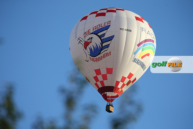 Balloon above the course during Friday afternoon's Four-balls, at The Solheim Cup 2015 played at Golf Club St. Leon-Rot, Mannheim, Germany.  18/09/2015. Picture: Golffile | David Lloyd<br /> <br /> All photos usage must carry mandatory copyright credit (&copy; Golffile | David Lloyd)
