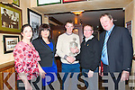 Man Of The Match Function : Pictured at the North Kerry Board's Man of the |Match function at McMunn's Bar & Restaurant, Ballybunion on Friday night last were Una O'Connor, McMunn's, Mairead O'Sullivan, PRO, North Kerry Board, Man of the Match Maurice O'Connor, Duagh, Greg Ryan, McMunn's, Sponsor & Billy Enright, Chairman, North Kerry Board.