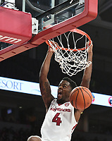 NWA Democrat-Gazette/J.T. WAMPLER Arkansas' Daryl Macon dunks against Colorado State Tuesday Dec. 5, 2017 at Bud Walton Arena in Fayetteville. The Hogs won 92-66 and play again at home Saturday against Minnesota.