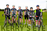 Members of Killarney cycling club.Front l-r Ray Moynihan, Mike Kissane, Paul Morgan, Jerry Hayes, Patricia Leen and Stephen Daly at Pedal the peninsula  run by Sliabh Mish Spinners Cycling Club in association with Keel Palliative Care Fundraising Group and Keel GAA. on Sunday
