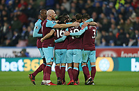 West Ham United's Manuel Lanzini celebrates scoring his side's fourth goal with his team mates<br /> <br /> Photographer Rob Newell/CameraSport<br /> <br /> The Premier League - Huddersfield Town v West Ham United - Saturday 13th January 2018 - John Smith's Stadium - Huddersfield<br /> <br /> World Copyright &copy; 2018 CameraSport. All rights reserved. 43 Linden Ave. Countesthorpe. Leicester. England. LE8 5PG - Tel: +44 (0) 116 277 4147 - admin@camerasport.com - www.camerasport.com