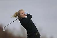 Olivia Hunt (England) during the second round of the Irish Girls' Open Stroke Play Championship, Roganstown Golf Club, Swords, Ireland. 14/04/2018.<br /> Picture: Golffile | Fran Caffrey<br /> <br /> <br /> All photo usage must carry mandatory copyright credit (&copy; Golffile | Fran Caffrey)
