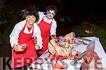 Chris and Shane Barrett entertaining the crowds at Knocknagoshel Halloween festival on Sunday night