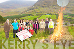Glenbeigh anti-mast protest group sets fire to a dummy mast at the site of the planned mast by 3G on Friday