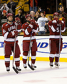 Mike Taylor (Harvard 10), Jimmy Fraser (Harvard 9), Jack Christian (Harvard 5) - The Boston College Eagles defeated the Harvard University Crimson 6-5 in overtime on Monday, February 11, 2008, to win the 2008 Beanpot at the TD Banknorth Garden in Boston, Massachusetts.