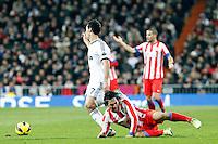 Arda Turan and Alvaro Arbeloa during La Liga Match. December 01, 2012. (ALTERPHOTOS/Caro Marin)
