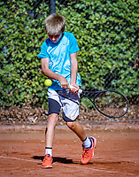 Hilversum, Netherlands, August 6, 2018, National Junior Championships, NJK, Manvydas Baldunas (NED)<br /> Photo: Tennisimages/Henk Koster