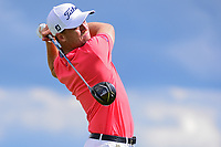 Justin Thomas (USA) watches his tee shot on 7 during Sunday's round 4 of the 117th U.S. Open, at Erin Hills, Erin, Wisconsin. 6/18/2017.<br /> Picture: Golffile | Ken Murray<br /> <br /> <br /> All photo usage must carry mandatory copyright credit (&copy; Golffile | Ken Murray)