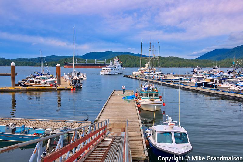 Boats at marina<br />Prince Rupert<br />British Columbia<br />Canada