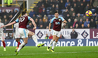Burnley's Ashley Barnes shoots the ball into the net only for his effort to be disallowed<br /> <br /> Photographer Andrew Kearns/CameraSport<br /> <br /> The Premier League - Burnley v Liverpool - Wednesday 5th December 2018 - Turf Moor - Burnley<br /> <br /> World Copyright &copy; 2018 CameraSport. All rights reserved. 43 Linden Ave. Countesthorpe. Leicester. England. LE8 5PG - Tel: +44 (0) 116 277 4147 - admin@camerasport.com - www.camerasport.com