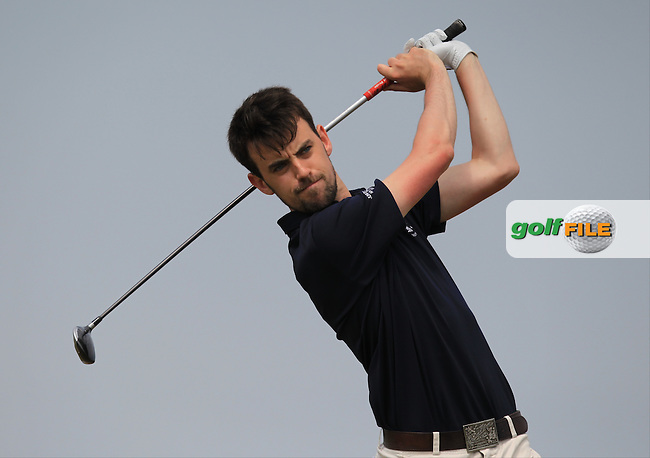 Stephen Brady (Galway) on the 2nd tee during Round 1 of the East of Ireland Amateur Open Championship sponsored by City North Hotel at Co. Louth Golf club in Baltray on Saturday 4th June 2016.<br /> Photo by: Golffile   Thos Caffrey