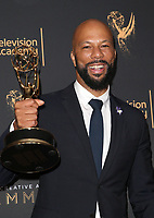 LOS ANGELES, CA - SEPTEMBER 09: Common, at the 2017 Creative Arts Emmy Awards- Press Room at Microsoft Theater on September 9, 2017 in Los Angeles, California. <br /> CAP/MPIFS<br /> &copy;MPIFS/Capital Pictures