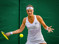 London, England, 4 th. July, 2018, Tennis,  Wimbledon, Woman's doubles:  Bibiane Schoofs (NED) <br /> Photo: Henk Koster/tennisimages.com