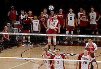 STANFORD, CA - January 13, 2012:  Jake Kneller during Stanford's 25-13, 20-25, 25-14, 25-14 victory over Juniata in Stanford, California on January 13, 2012.