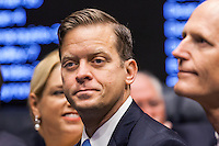 TALLAHASSEE, FLA. 11/18/14-ORGSESS111814CH-Lt. Gov. Carlos Lopez-Cantera during Organizational Session of the Legislature, Nov. 18, 2014 at the Capitol in Tallahassee.<br /> <br /> COLIN HACKLEY PHOTO