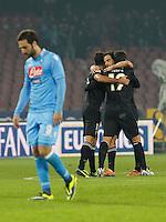 Gonzalo Higuain delusione  durante l'incontro di calcio di Serie A  Napoli Parmi allo  Stadio San Paolo  di Napoli , 23 Novembre 2013<br /> Foto Ciro De Luca
