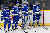 Tyler Rostenkowski (AFA - 25), Kyle Haak (AFA - 16), Billy Christopoulos (AFA - 44), Jordan Himley (AFA - 10) - The Harvard University Crimson defeated the Air Force Academy Falcons 3-2 in the NCAA East Regional final on Saturday, March 25, 2017, at the Dunkin' Donuts Center in Providence, Rhode Island.