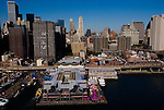 Aerial views of south street seaport
