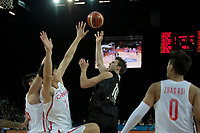 New Zealand Tall Blacks&rsquo; Tom Abercromble in action during the FIBA World Cup Basketball Qualifier - NZ Tall Blacks v China at Spark Arena, Auckland, New Zealand on Sunday 1 July 2018.<br /> Photo by Masanori Udagawa. <br /> www.photowellington.photoshelter.com