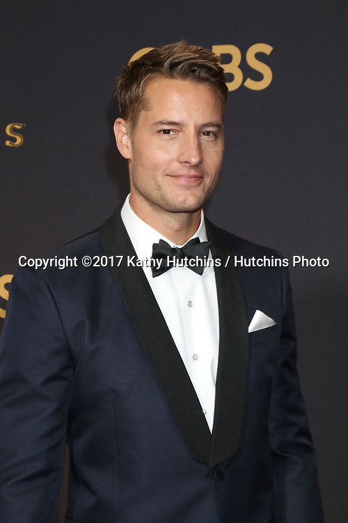 LOS ANGELES - SEP 17:  Justin Hartley at the 69th Primetime Emmy Awards - Arrivals at the Microsoft Theater on September 17, 2017 in Los Angeles, CA