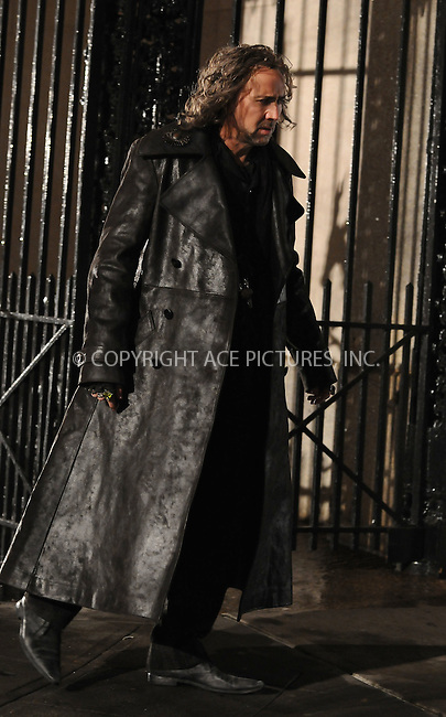 WWW.ACEPIXS.COM..March 27 2009, New York City..Actor Nicholas Cage films on the Upper West  Side of Manhattan set of the 2010 movie, 'The Sorcerer's Apprentice' on March 27 2009 in New York City...Please byline: AJ Sokalner - ACEPIXS.COM...*** ***...Ace Pictures, Inc.tel: (212) 243 8787.e-mail: info@acepixs.com.web: http://www.acepixs.com..Copyright © 2009 AJ Sokalner/ACE Pictures.