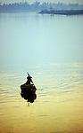 Hoi An Sunrise 01 - Small boat on the Thu Bon river at sunrise, Hoi An, Viet Nam