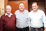 Tommy Boylan with Liam McCluskey and Christopher Woods at his retirement party in Hanratty's...(Photo credit should read Jenny Matthews www.newsfile.ie)....This Picture has been sent you under the condtions enclosed by:.Newsfile Ltd..The Studio,.Millmount Abbey,.Drogheda,.Co Meath..Ireland..Tel: +353(0)41-9871240.Fax: +353(0)41-9871260.GSM: +353(0)86-2500958.email: pictures@newsfile.ie.www.newsfile.ie.