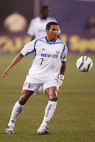 The Wizard's Diego Gutierrez. The Kansas City Wizards were defeated by  the NY/NJ MetroStars to a 1 to 0 at Giant's Stadium, East Rutherford, NJ, on May 30, 2004.