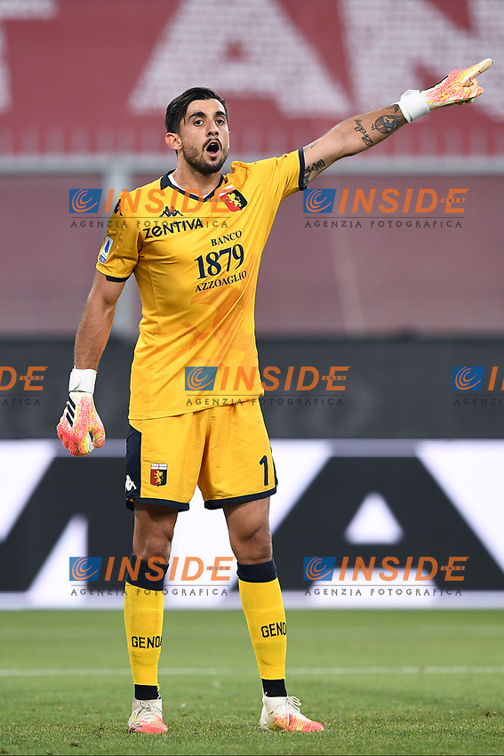 Mattia Perin of Genoa CFC reacts during the Serie A football match between Genoa CFC and SSC Napoli stadio Marassi in Genova ( Italy ), July 08th, 2020. Play resumes behind closed doors following the outbreak of the coronavirus disease. <br /> Photo Matteo Gribaudi / Image / Insidefoto