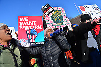 Washington, DC - January 10, 2019:  Federal government workers and members of the AFL-CIO rally in front of the White House to protest the government shutdown on it's 19th day, January 10, 2019.  (Photo by Don Baxter/Media Images International)