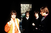 PINK FLOYD - L-R: Syd Basrrett, Rick Wright, Nick Mason, Roger Waters - photosession in London UK - April 1967.  Photo credit: Alain Dister/Dalle/IconicPix **AVAILABLE FOR UK ONLY**