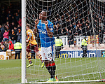 31.3.2018: Motherwell v Rangers: <br /> Alfredo Morelos rues a missed chance