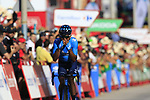 Nairo Quintana (COL) Movistar Team wins Stage 2 of La Vuelta 2019 running 199.6km from Benidorm to Calpe, Spain. 25th August 2019.<br /> Picture: Eoin Clarke | Cyclefile<br /> <br /> All photos usage must carry mandatory copyright credit (© Cyclefile | Eoin Clarke)