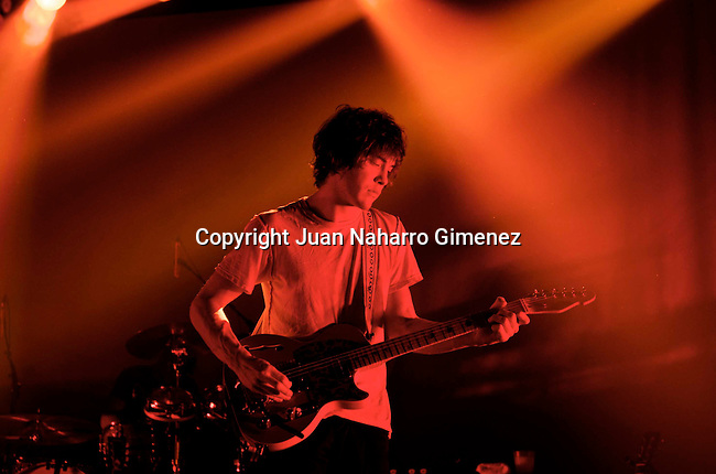 MADRID, SPAIN - DECEMBER 17: Andrew VanWyngarden of MGMT performs at La Rivieraon December 17, 2010 in Madrid, Spain. (Photo by Juan Naharro Gimenez)