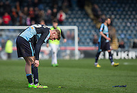 Jason McCarthy of Wycombe Wanderers at full time during the Sky Bet League 2 match between Wycombe Wanderers and Barnet at Adams Park, High Wycombe, England on 16 April 2016. Photo by Andy Rowland.