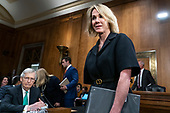 Kelly Craft, United States Ambassador to Canada, arrives prior to her confirmation hearing to be the United States Ambassador to the United Nations before the Senate Foreign Relations Committee on Capitol Hill in Washington, D.C. on June 19. 2019. Credit: Alex Edelman / CNP
