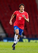 23rd March 2018, Hampden Park, Glasgow, Scotland; International Football Friendly, Scotland versus Costa Rica; Yeltsin Tejeda of Costa Rica in action
