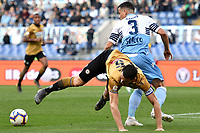 William Ekong of Udinese and Luiz Felipe of Lazio compete for the ball <br /> Roma 17-4-2019 Stadio Olimpico Football Serie A 2018/2019 SS Lazio - Udinese <br /> Foto Andrea Staccioli / Insidefoto
