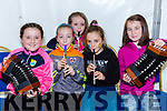Sarah dineen, Niamh Cantillan, Noreen Hely, Maeve Darcy and Aoise O'Donoghue who entertained the crowd at the Glenflesk GAA anniversary celebrations on Sunday