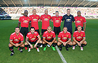 Manchester United Legends team during the Swansea Legends v Manchester United Legends at The Liberty Stadium, Swansea, Wales, UK. Wednesday 09 August 2017