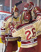 Matt Carle, ?, Tom May, Paul Stastny - The Ferris State Bulldogs defeated the University of Denver Pioneers 3-2 in the Denver Cup consolation game on Saturday, December 31, 2005, at Magness Arena in Denver, Colorado.