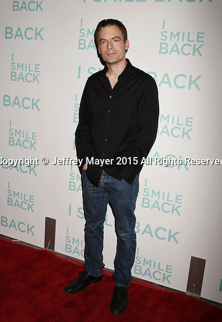 HOLLYWOOD, CA - OCTOBER 21: Actor Justin Kirk arrives at the premiere of Broad Green Pictures' 'I Smile Back' at ArcLight Cinemas on October 21, 2015 in Hollywood, California.