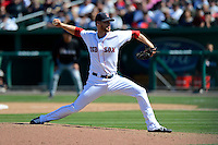 Boston Red Sox pitcher Daniel Bard #51 during a Spring Training game against the Miami Marlins at JetBlue Park on March 27, 2013 in Fort Myers, Florida.  Miami defeated Boston 5-1.  (Mike Janes/Four Seam Images)