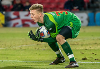 COLLEGE PARK, MD - NOVEMBER 15: Niklas Neumann #36 of Maryland makes a save during a game between Indiana University and University of Maryland at Ludwig Field on November 15, 2019 in College Park, Maryland.