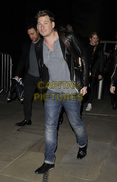 LONDON, ENGLAND - MARCH 09: Lee Ryan of Blue attends the Jamie Oliver &amp; Kevin Systrom 2nd annual London party, Barbecoa bar &amp; restaurant, One New Change, New Change, on Monday March 09, 2015 in London, England, UK. <br /> CAP/CAN<br /> &copy;CAN/Capital Pictures