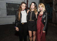 Bella Nelson, Brit Elkin and Emma Roberts attend the COMMUNION Group Show on Friday, June 24, 2016 (Photo by Inae Bloom/Guest of a Guest)