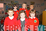 New pupils at Derryquay National School, Derryquay .Front row, Sean Fitzgerald, Sinead Crean, Conall Meighan,.back row: Charlie Gillan, Lucy Mulgrew and Sinead Murphy..