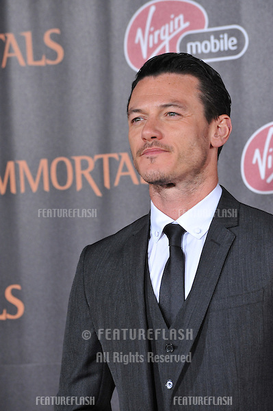 "Luke Evans at the world premiere of his new movie ""Immortals"" at the Nokia Theatre L.A. Live in downtown Los Angeles..November 7, 2011  Los Angeles, CA.Picture: Paul Smith / Featureflash"